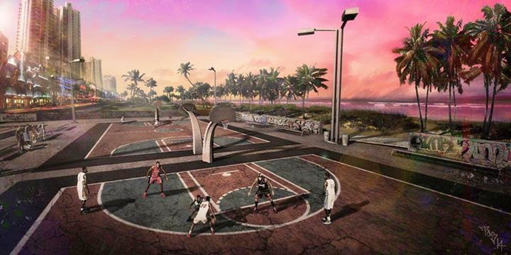 NBA 2K15 Sunset Beach Ballers Park