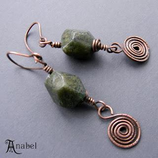 купить медные украшения с камнями яшма Купить авторские украшения ручной работы онлайн.