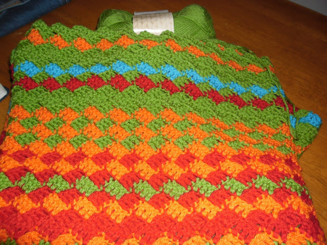 Crochet Temperature Blanket : Blooming Lovely: WIP - Crochet - Temperature Blanket - Week 12