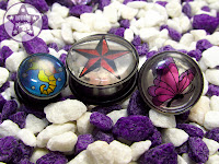 Stained Glass Style Artwork Custom Plugs