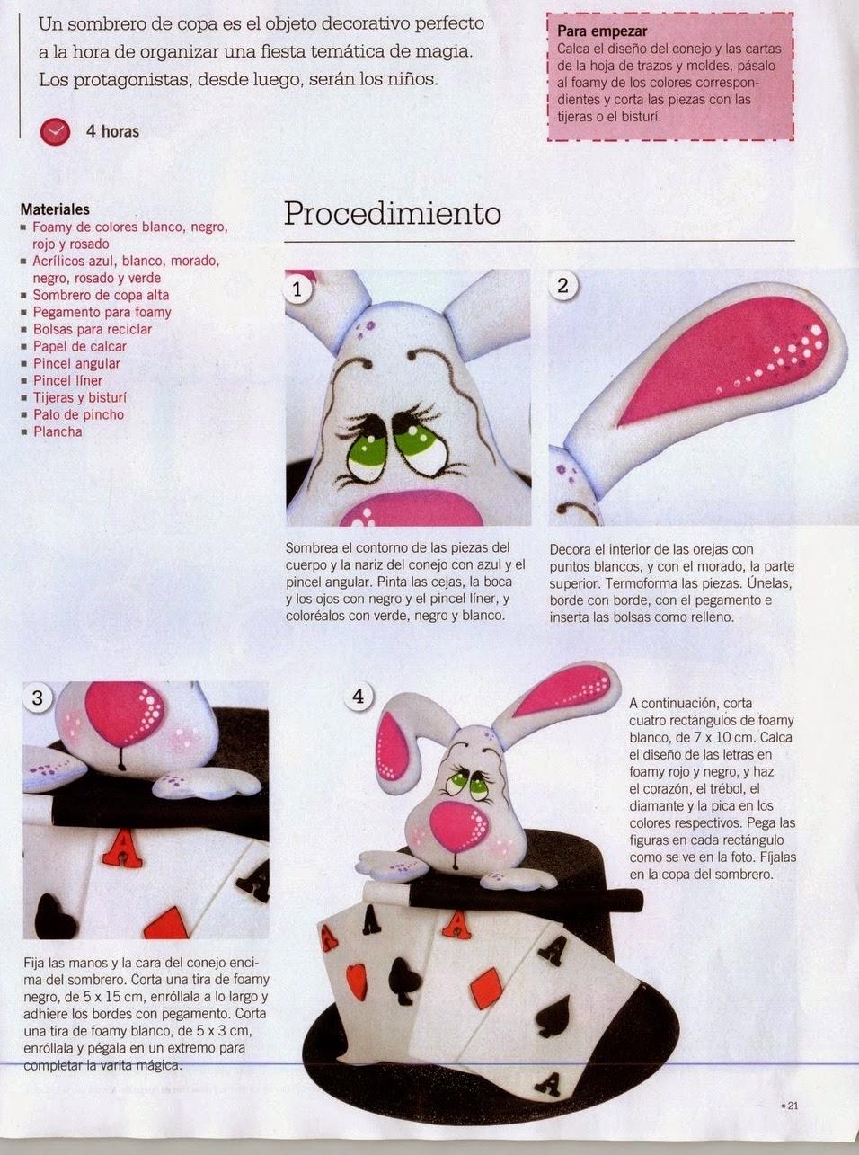 Como hacer un pastel en foamy - Revistas de manualidades Gratis