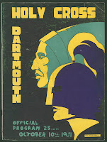 A poster for a 1931 game against Holy Cross.