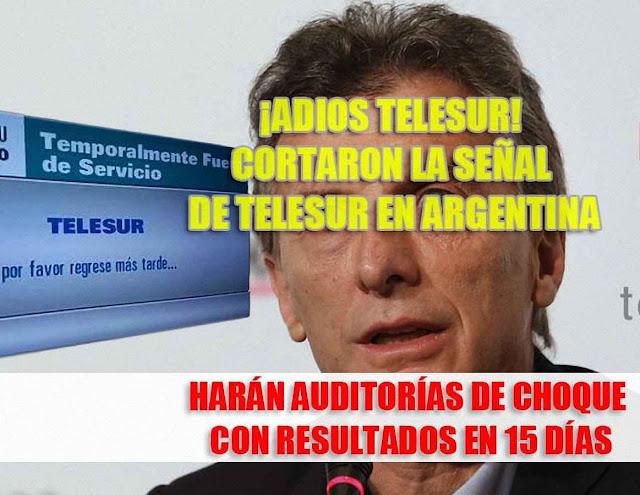 Argentina cancelou sua participação na Telesur, TV criada pelo chavismo