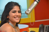 Mega Akash in a sleeveless Off Shoulder Cute Dress Stunnign beauty at Radio Mirchi Promoting Movie LIE ~ Celebrities Galleries 040.JPG