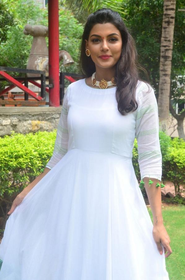 Anisha Ambrose Latest White Dress Stills