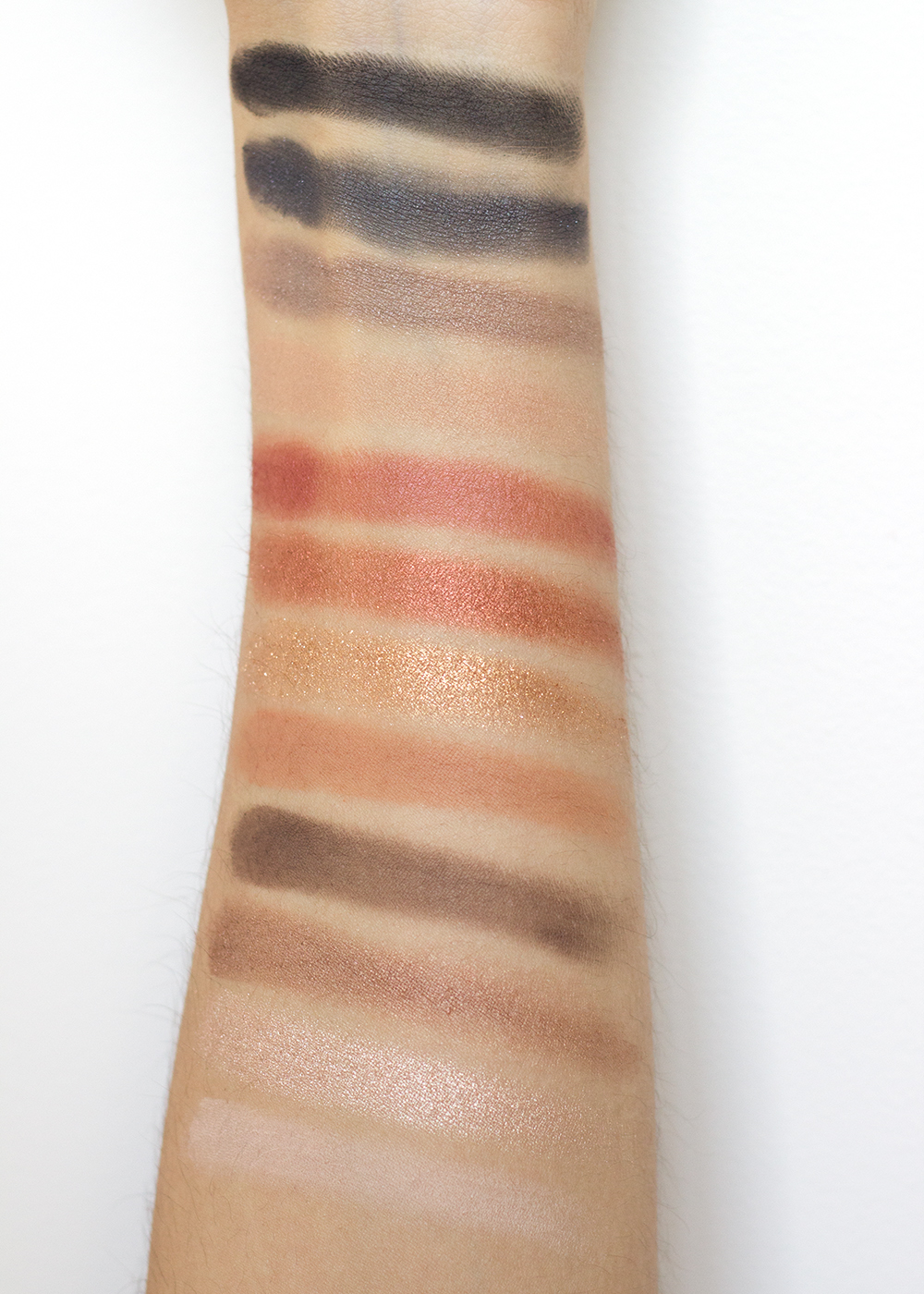 Milani Bold Obsessions Eyeshadow Palette Swatches