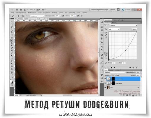 Метод фоторетуши в Фотошопе Dodge&Burn. Видеоурок