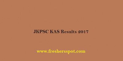 JKPSC KAS Results 2017