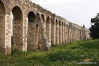 remains of an aqueduct which supplied water to Acre