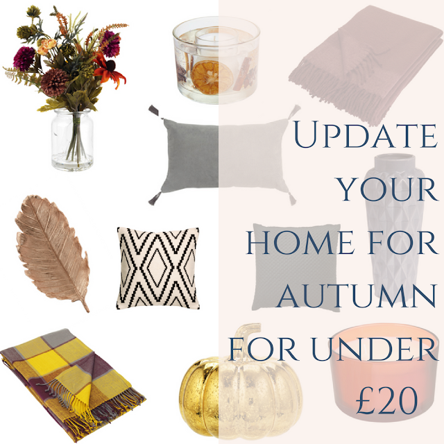 Update your home for autumn/winter with decor and decorations from the high street on a budget. Copper, grey, mustard and burnt orange. Fall DIY room ideas.