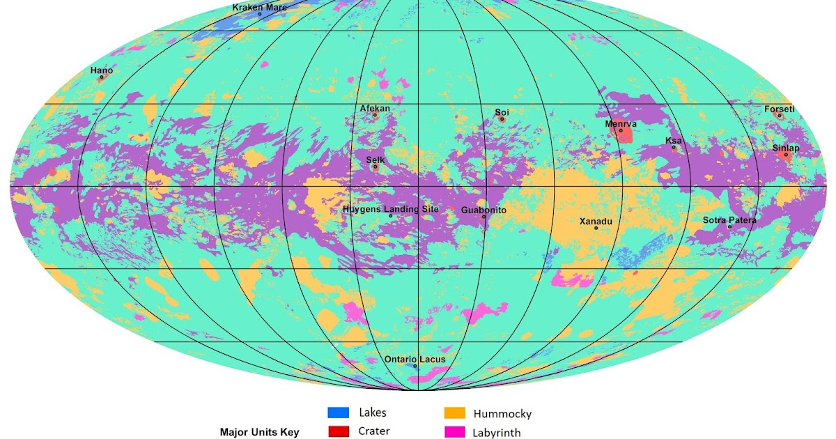 Image of the day | Saturn Moon Titan | Geological Maps....