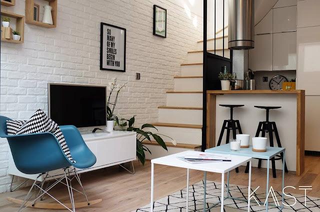 Amenajare practică pentru un apartament de numai 32 m² din St-Maur