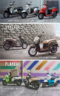 Varian warna All New Honda Scoopy