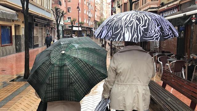 día de lluvia en Barakaldo