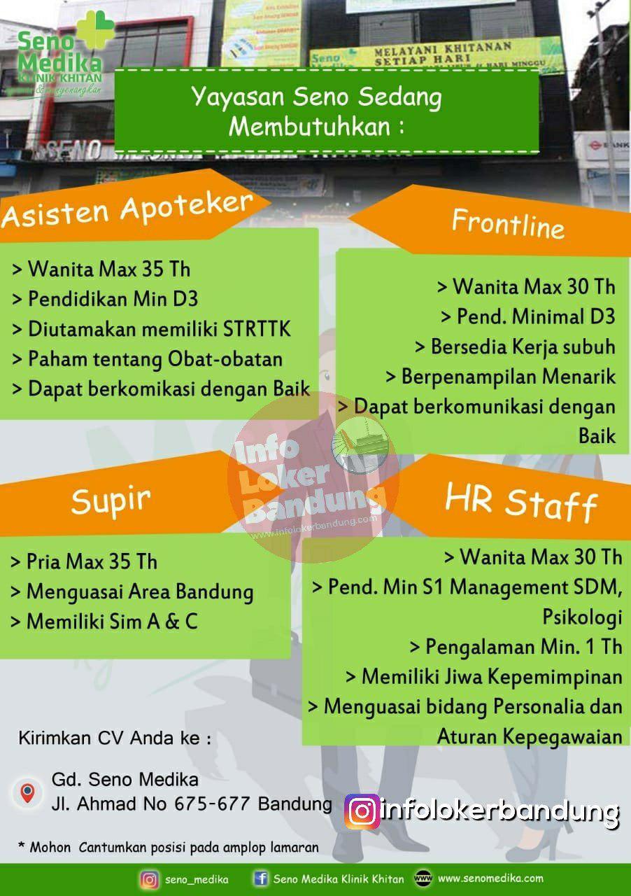 Lowongan Kerja Seno Medika Klinik Khitan ( Yayasan Seno ) Bandung Februari 2019