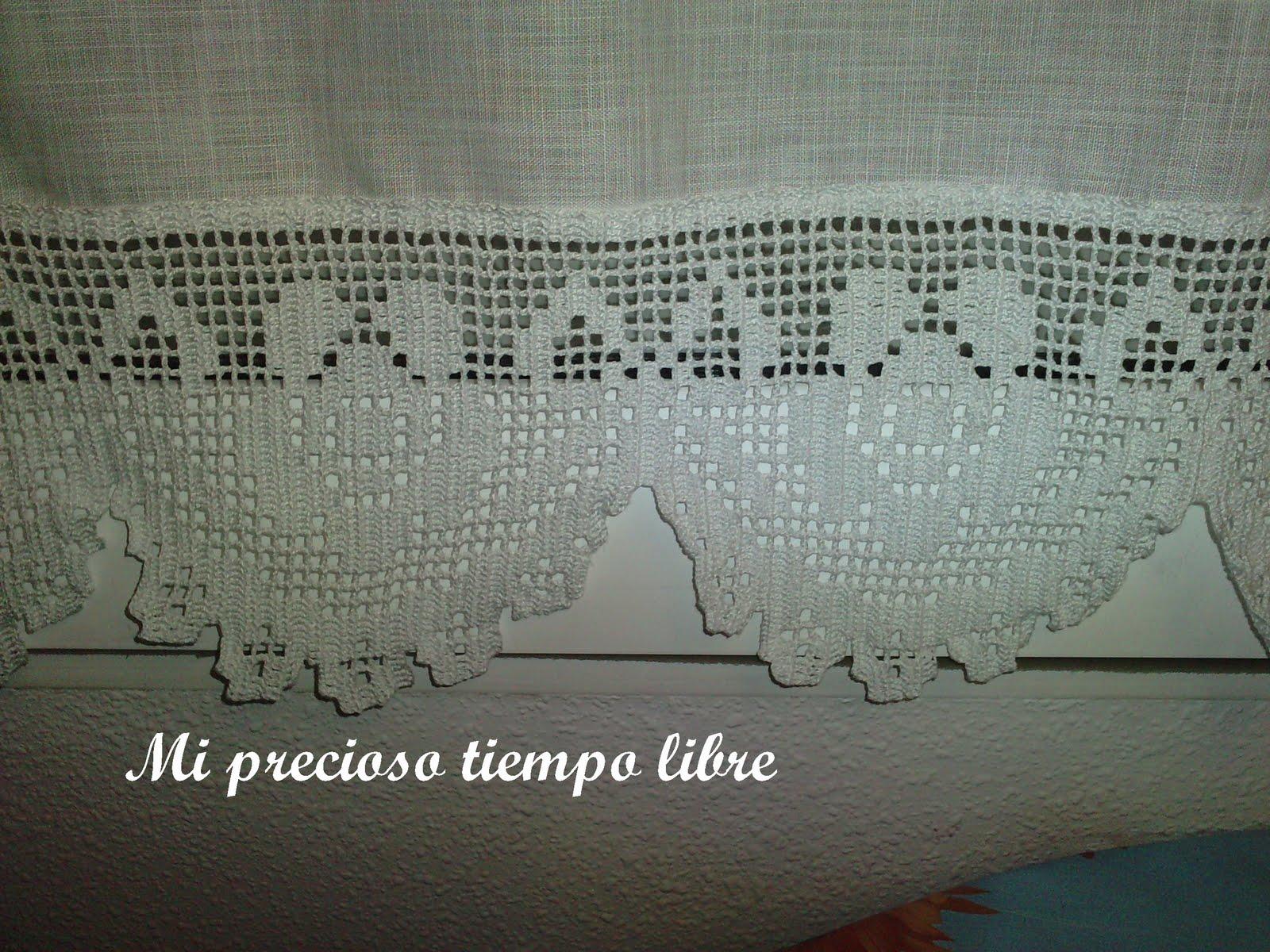 Mi precioso tiempo libre visillos a crochet - Puntillas para cortinas ...
