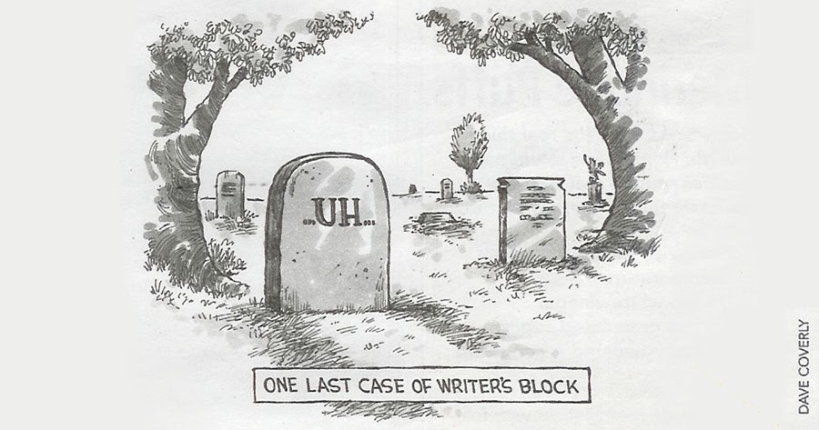 Mystery Fanfare: Cartoon of the Day: Writer's Block