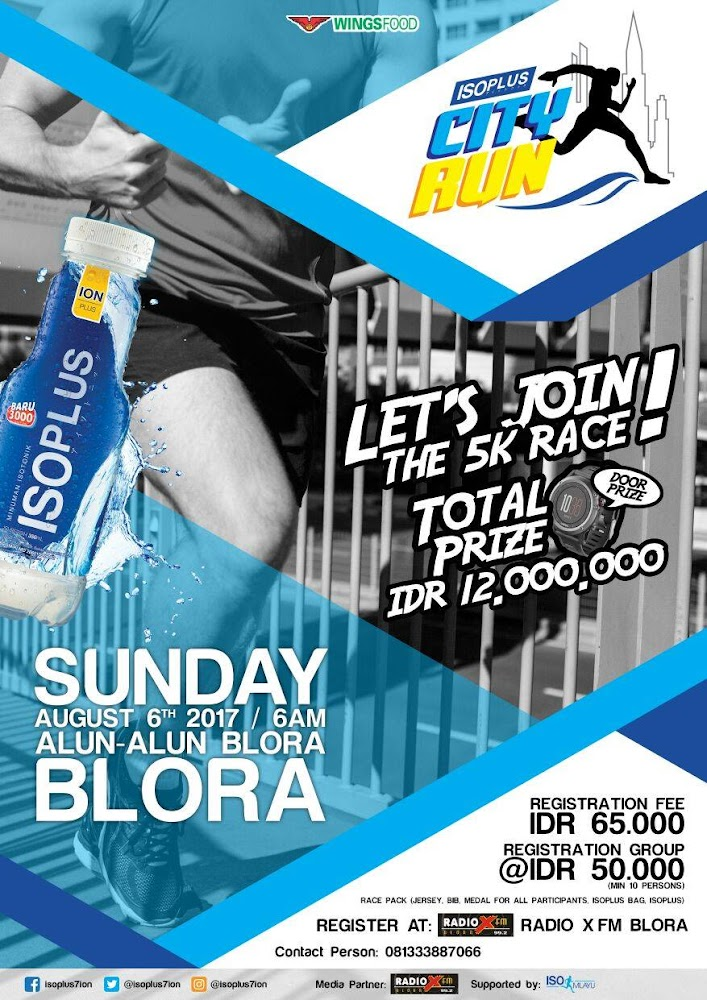 Isoplus City Run - Blora • 2017
