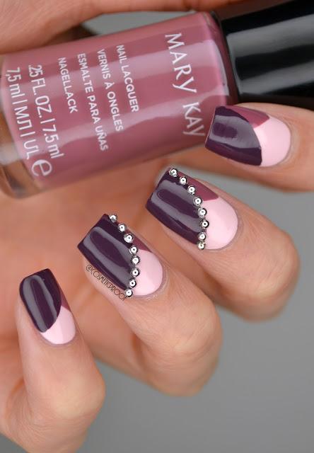 Purple Nail Art Mary Kay