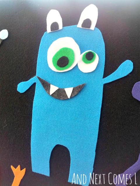 Cute monster on the felt board