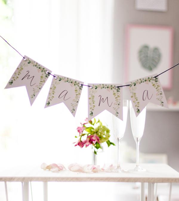 DIY Wimpelkette zum Muttertag. Gratis zum Ausdrucken. titatoni.de