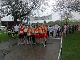 Les coureurs de la Ville de Genève au départ