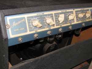 vintage harmony tube amplifier h306 w/vintage foot pedal - $359 (st  charles) ---------------------------------------------------------