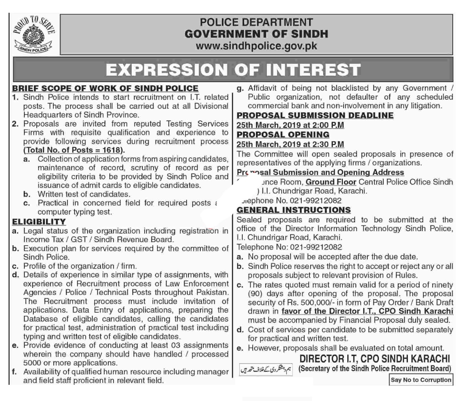 Sindh Police Jobs In Pakistan 2019 - Job collects