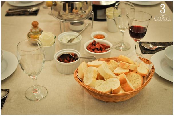 mesa para servir sopas
