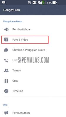 mematikan Autoplay Video Line