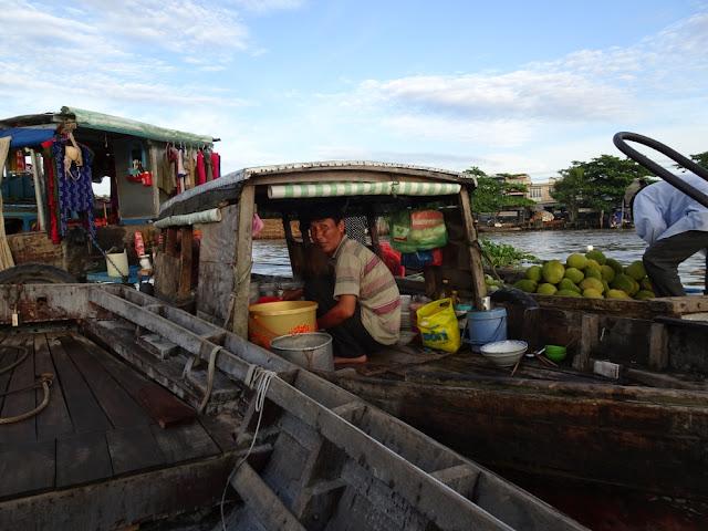 drijvende markt van Cai Ran