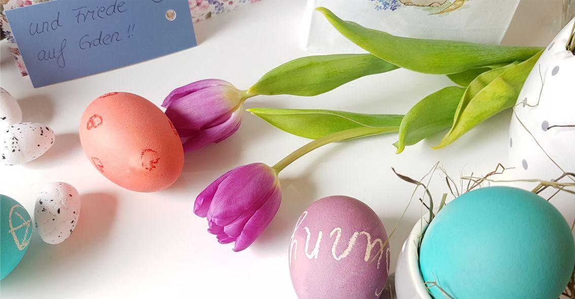 Frühlingsfrische Deko in Pastell für den Osterbrunch