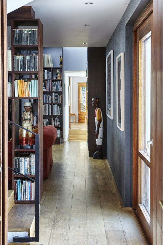 Safari Fusion blog | Library style | Open shelf library in a Cape barn style home in Noordhoek [Cape Town], South Africa