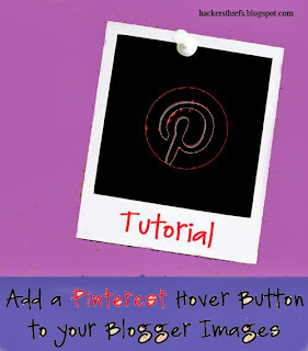 Add Pinterest Image Hover Button In Blogger