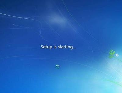 start install windows 7