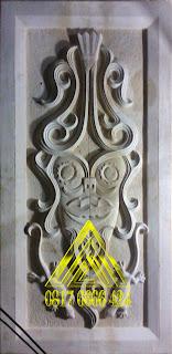batu alam paras jogja atau batu paras putih ornamen batik etnik