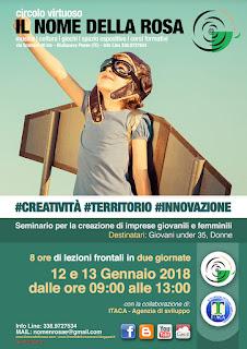 #CREATIVITÀ #TERRITORIO #INNOVAZIONE