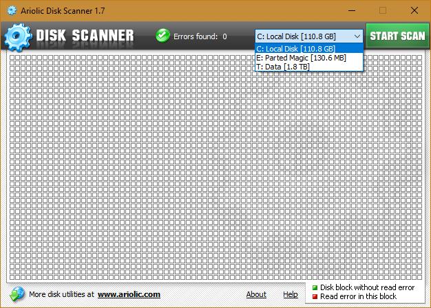 Ariolic Disk Scanner 1.7.0.10 | Herramienta de escaneo portable gratuita para tus discos duros externos e internos