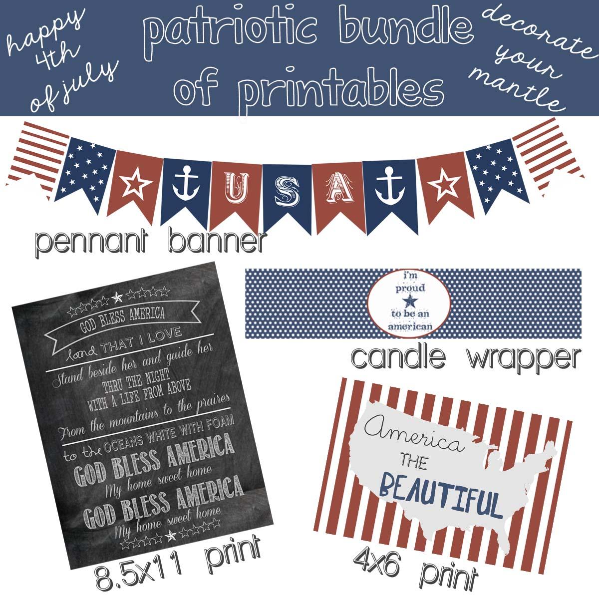 Patriotic Printable Decor