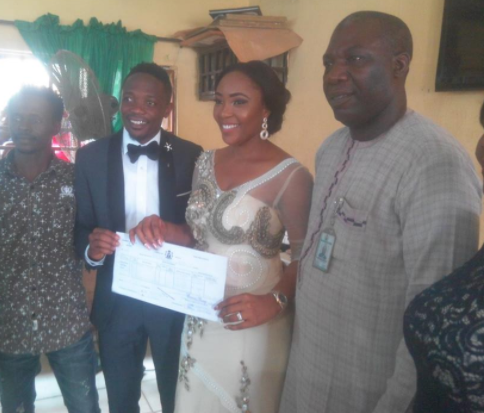 Photos from Ahmed Musa's court wedding to his second wife, Juliet