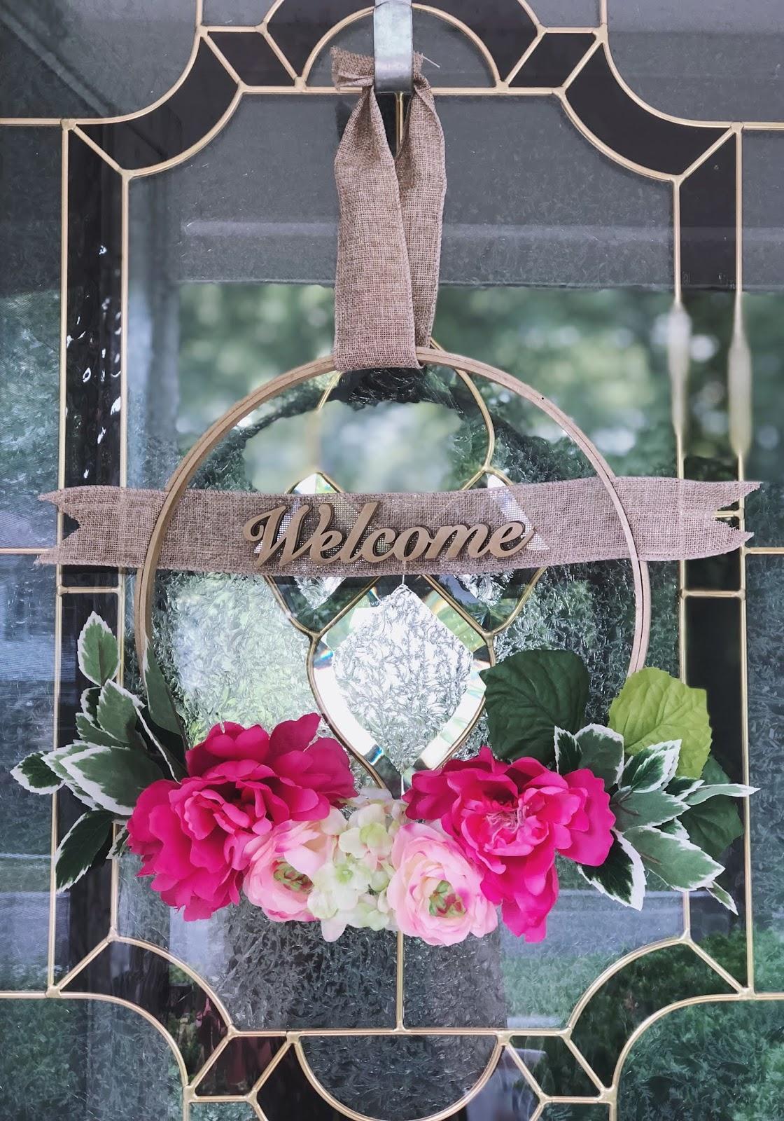Simple DIY Spring Hoop Wreath