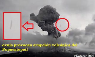 Nueva explosión del volcán Popocatepetl del 30.1.2018 provocada por un OVNI?  #Katecon2006