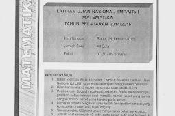 SOAL TPM MATEMATIKA KABUPATEN SLEMAN 2015 (Paket 16-20)
