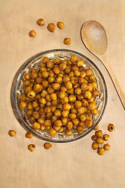 Turmeric and honey roasted chickpeas.
