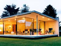 Architektur Moderner Flachdachbungalow