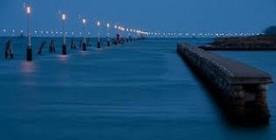 Ssentiero luminoso del canale Malamocco-Marghera