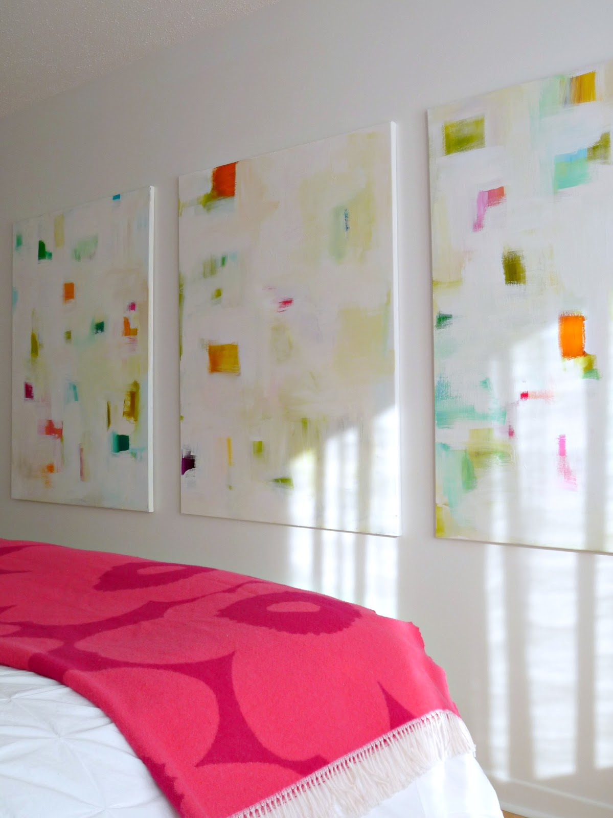 DIY colourful abstract art // how to make your own paintings