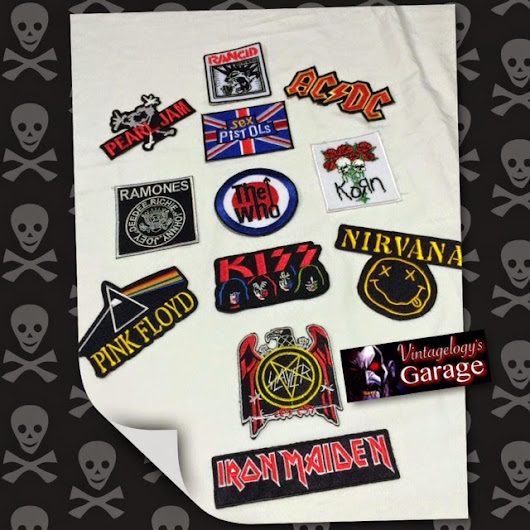 COOL EMBROIDERY BAND BADGES