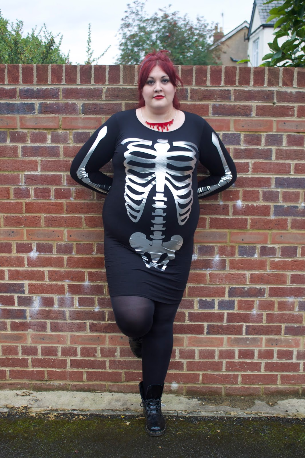 Black Heart Creatives Blog Asos Curve Skeleton Dress Realness