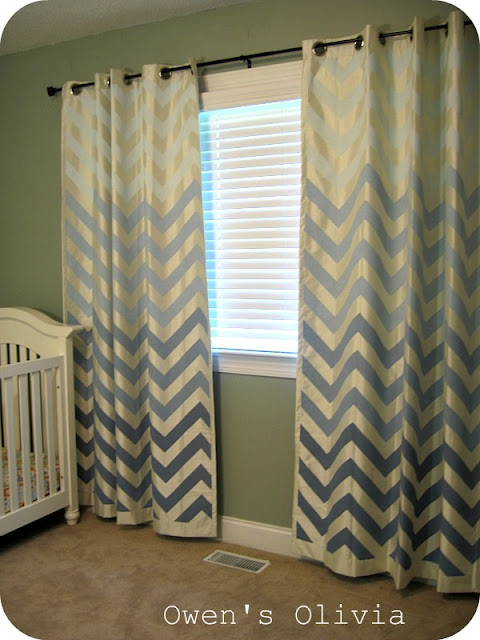 Remodelaholic Ombre Painted Chevron Curtains Tutorial